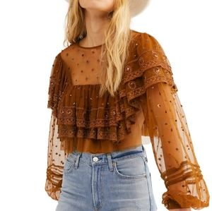 Free people disco ball top